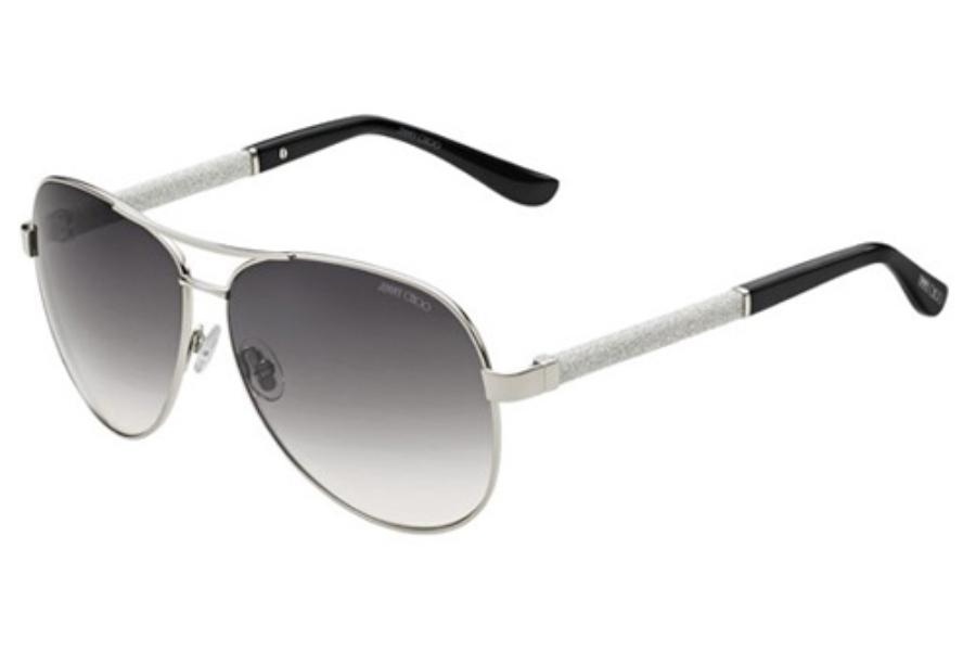 ae84c66c34e ... Jimmy Choo LEXIE S Sunglasses in 0EJT Palladium (IC Gray Mirror Shaded  Silver Lens ...