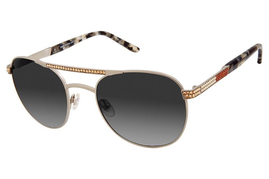 Jimmy Crystal New York JCS129 Sunglasses in Silver