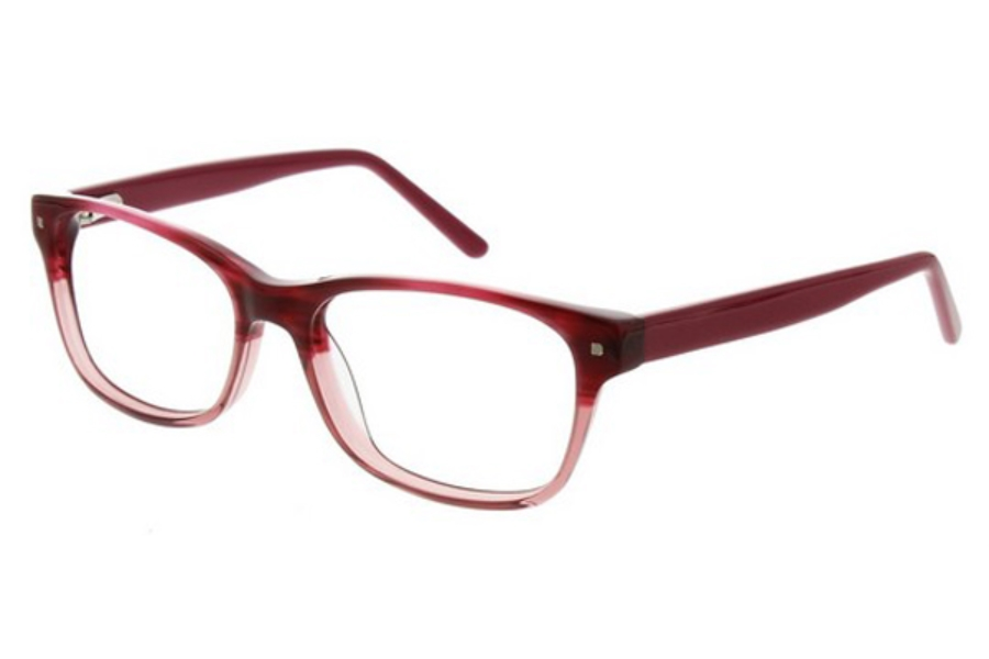 Junction City Carley Park Eyeglasses in Berry Horn Fade