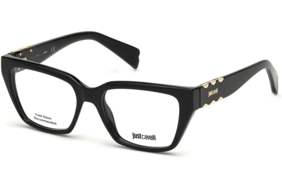 Just Cavalli JC0812 Eyeglasses in 001 - Shiny Black