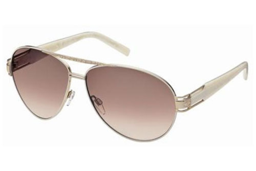 Just Cavalli JC400S Sunglasses in 34L Gold Ivory/Gradient Brown Lenses