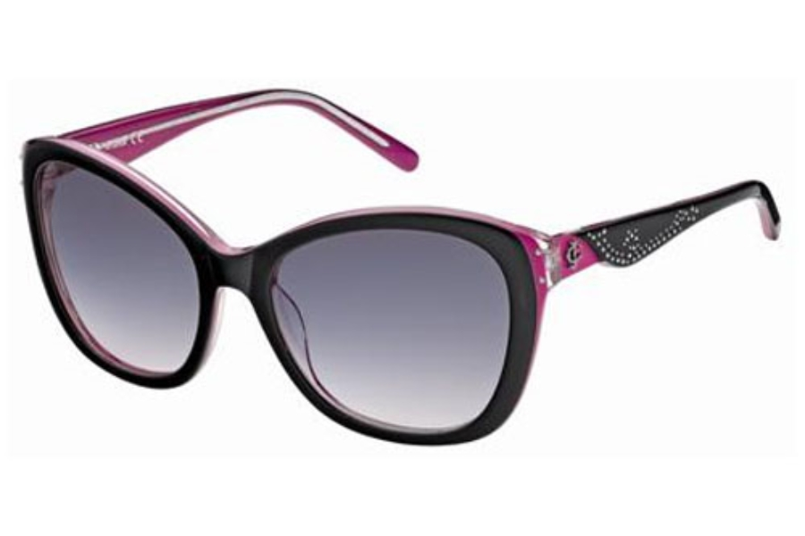 Just Cavalli JC408S Sunglasses in 05Z Black Fuchsia/Gradient Smoke Lenses