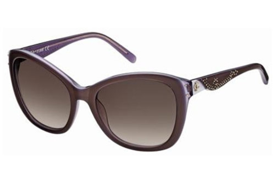 Just Cavalli JC408S Sunglasses in 50F Brown Purple/Gradient Brown Lenses