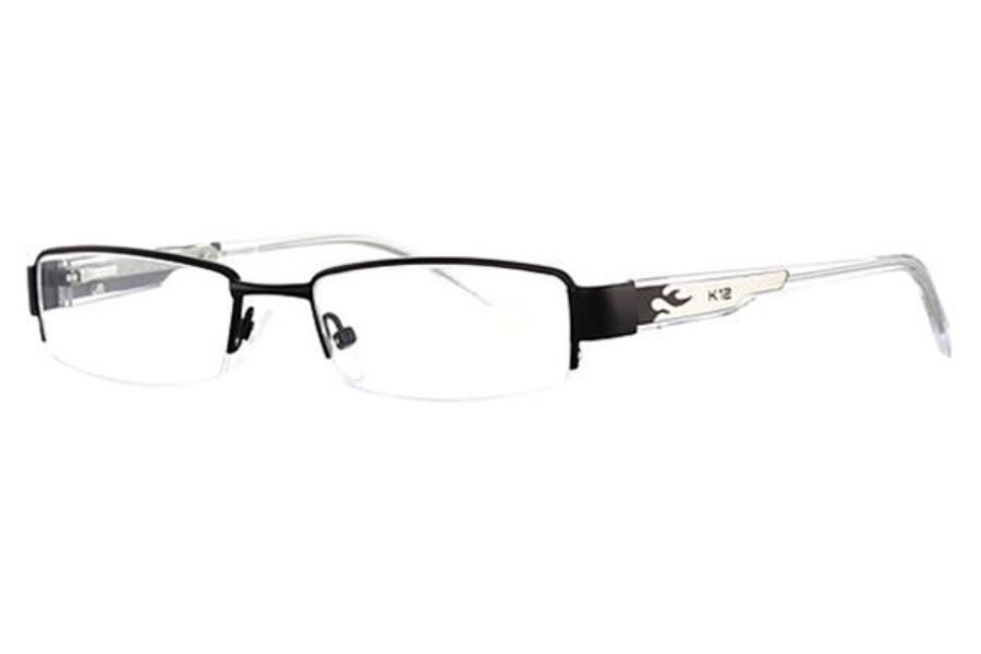 K-12 4041 Eyeglasses in Black/Lt. Gunmetal