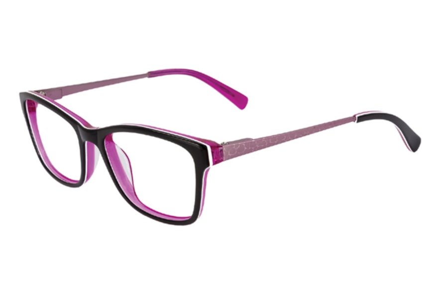 Kids Central KC1666 Eyeglasses in C-3 Black/Hot Pink