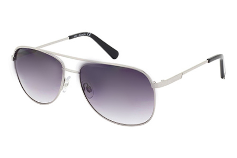 Kenneth Cole New York KC7153 Sunglasses in 08B Shiny Gumetal / Gradient Smoke