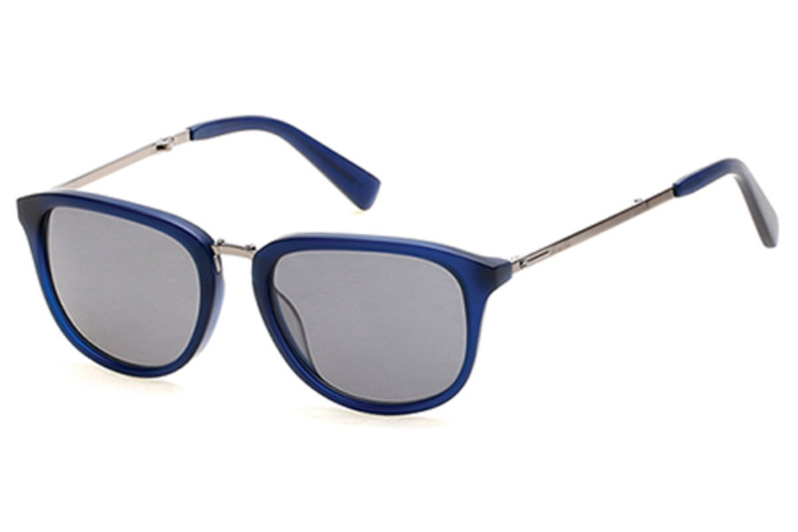 Kenneth Cole New York KC7196 Sunglasses in 91D - Matte Blue / Smoke Polarized