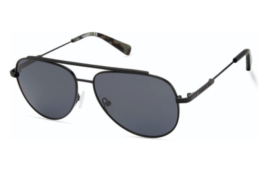 Kenneth Cole New York KC7233 Sunglasses in 02D - Matte Black / Smoke Polarized