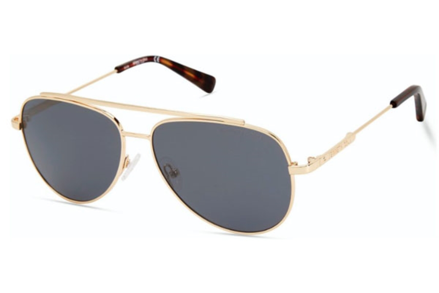 Kenneth Cole New York KC7233 Sunglasses in 32H - Gold / Brown Polarized