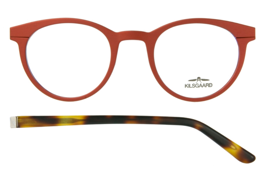 Kilsgaard 46 (Acetate Temple) Eyeglasses in 46.3/1 Red