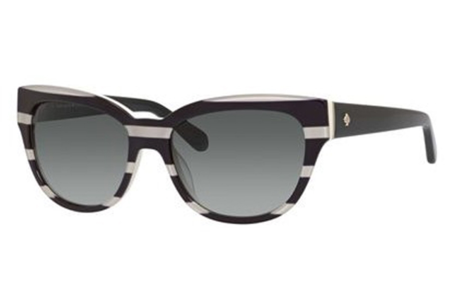 564d41b977ea7 ... 006G Pink Pattern (J6 brown gradient lens)  Kate Spade AISHA S  Sunglasses in 0X98 Black Cream Striped (F8 gray gradient lens ...