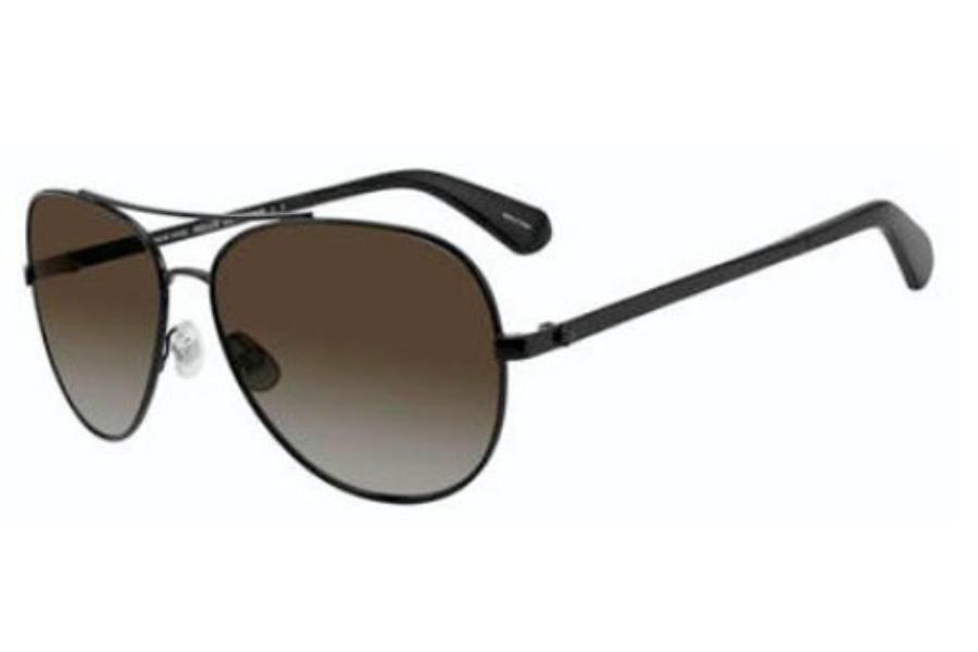 fe94945ec6cc ... Kate Spade AVALINE 2/S Sunglasses in 0807 Black (WJ gray sf pz lens ...