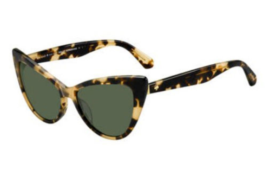Kate Spade KARINA/S Sunglasses in 0086 Dark Havana (QT green lens)