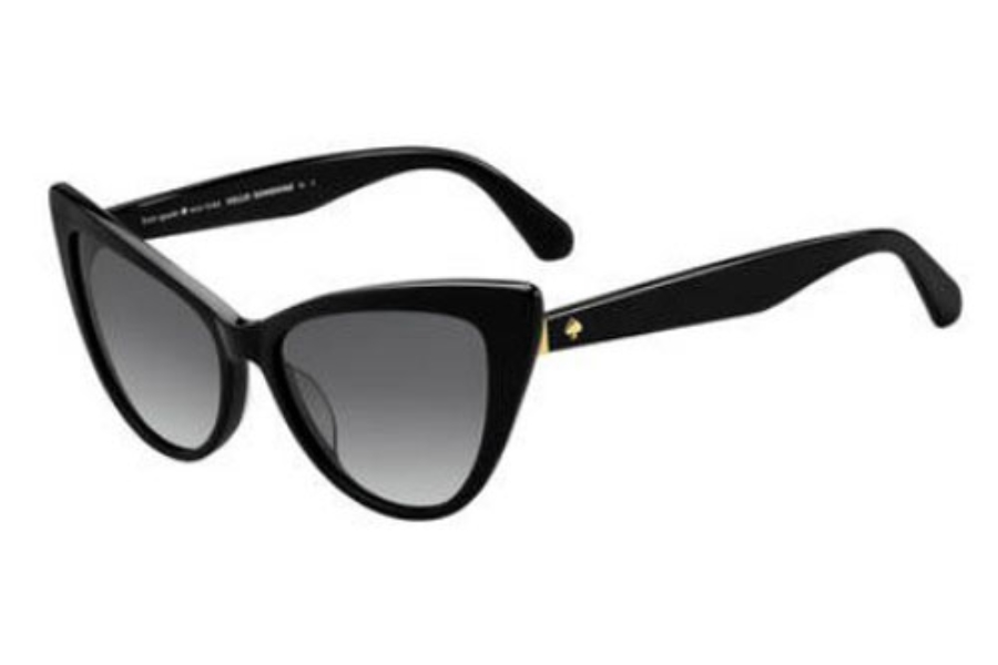 Kate Spade KARINA/S Sunglasses in 0807 Black (9O dark gray gradient lens)