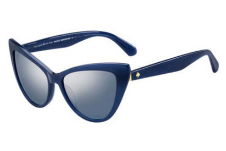 Kate Spade KARINA/S Sunglasses in 0PJP Blue (9U smoke mirror gradient lens)