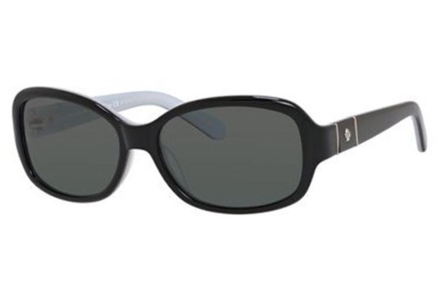 524c465a066a2 Kate Spade CHEYENNE P S Sunglasses in 0QOP Black White (RA gray polarized  ...