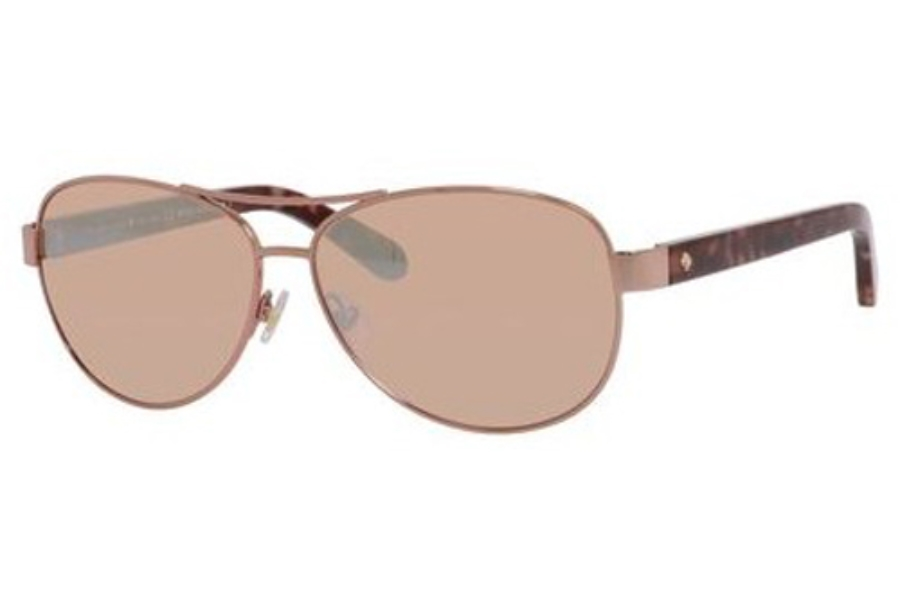 6669b180bb43 Kate Spade DALIA 2/S Sunglasses in 0AU2 Rose Gold (K4 brown rose mirror ...