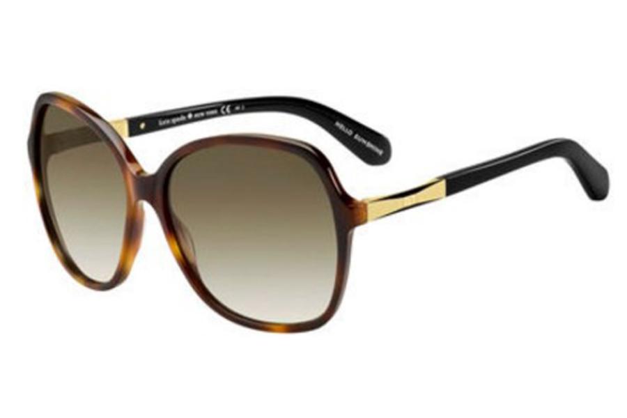 6e7cc3ded9fa ... Kate Spade JOLYN/S Sunglasses in 0CRX Dark Havana Gold (CC brown  gradient lens ...