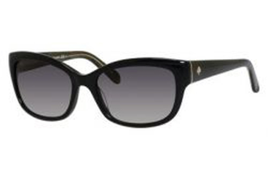 ba3b3fc240 ... Kate Spade JOHANNA S Sunglasses in 0JLQ Black (Y7 Gray Gradient Lens)  ...