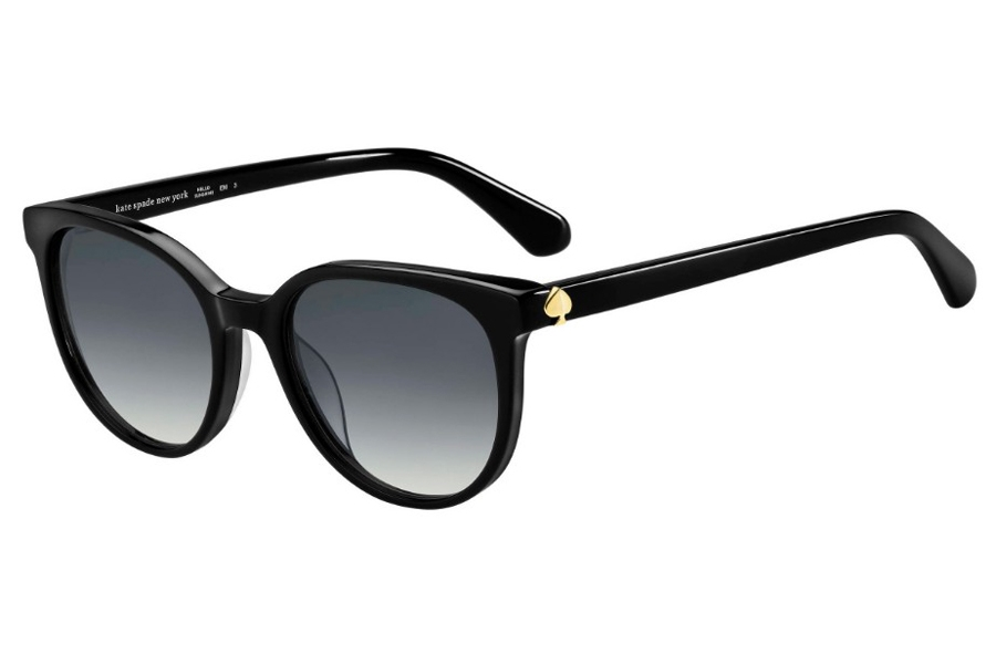 Kate Spade MELANIE/S Sunglasses in 0807 Black (9O Dark Gray Gradient)