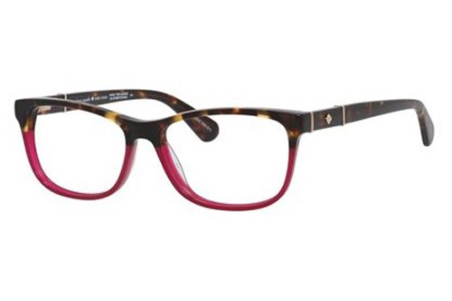 Kate Spade MYRNA Eyeglasses in 065T Dark Havana Burgundy