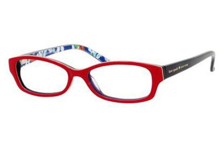 e32d4ee4f726 ... Tortoise Floral; Kate Spade SHEBA Eyeglasses in 0X69 Red Floral ...