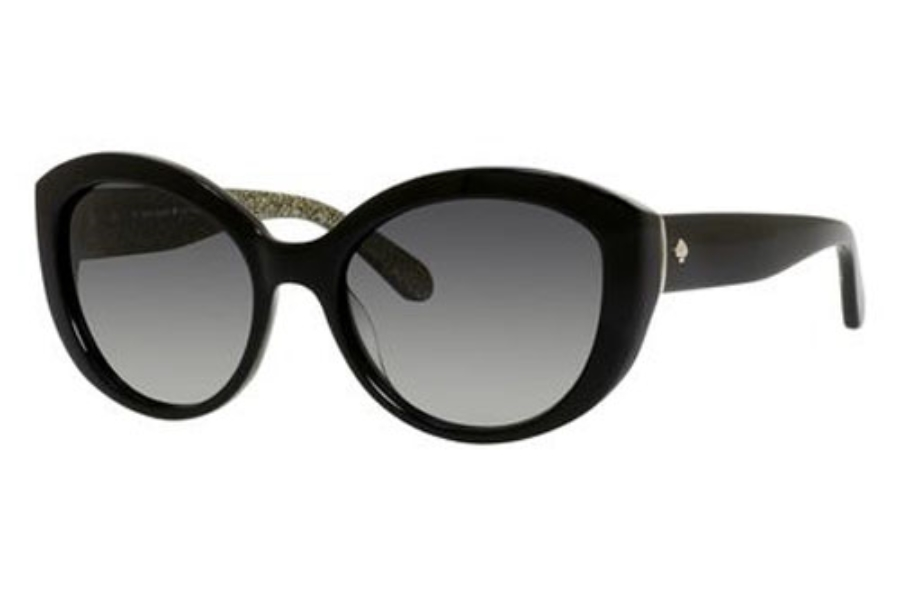 Kate Spade SHERRIE/S Sunglasses in 0807 Black (Y7 Gray Gradient Lens)