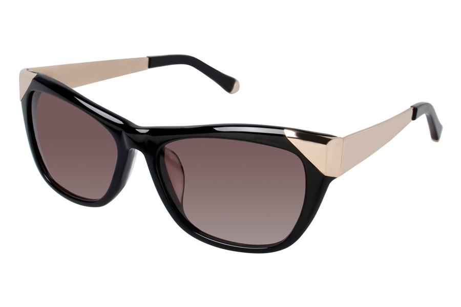 Kate Young K505 Claire Sunglasses in BLK Black