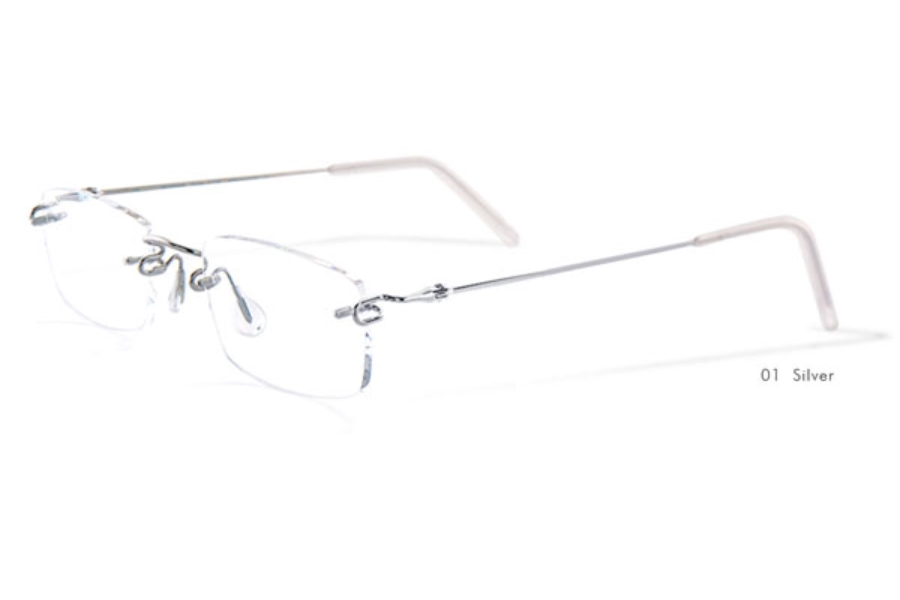 Kazuo Kawasaki 631 Eyeglasses in 01 Silver (140 Temple Only)