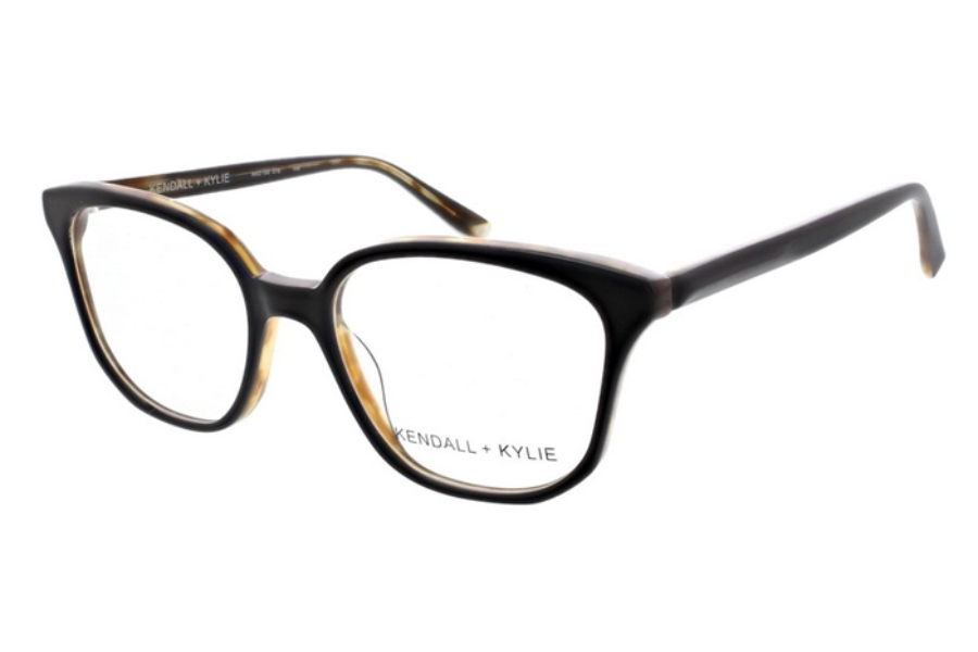 Kendall + Kylie Zoey Eyeglasses in 019 Black over Tortoise