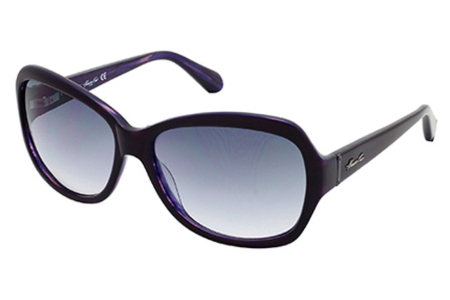 Kenneth Cole New York KC7033 Sunglasses in 05B Black/Pearl Violet Horn Smoke Gradient