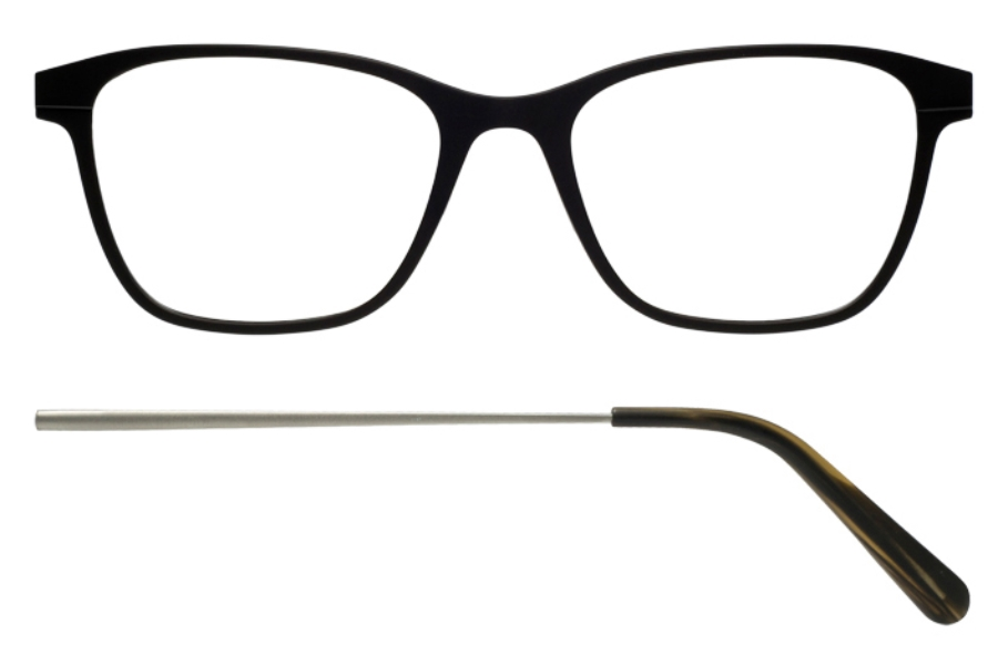 Kilsgaard 56 (Aluminium Temple) Eyeglasses in 56.1/3 Black (Discontinued)