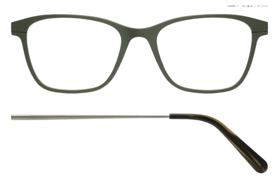 Kilsgaard 56 (Aluminium Temple) Eyeglasses in 56.7/7 Green (Discontinued)