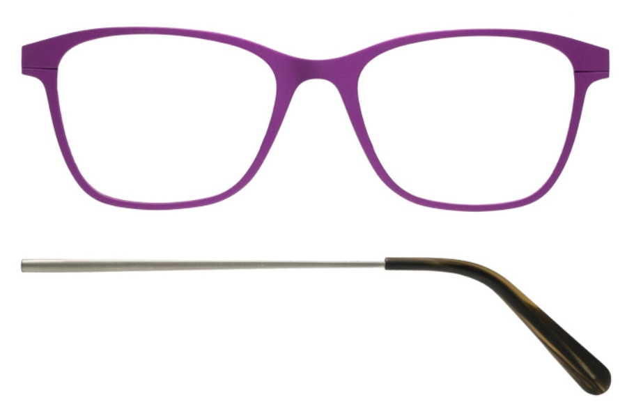 Kilsgaard 56 (Aluminium Temple) Eyeglasses in 56.8/8 Purple