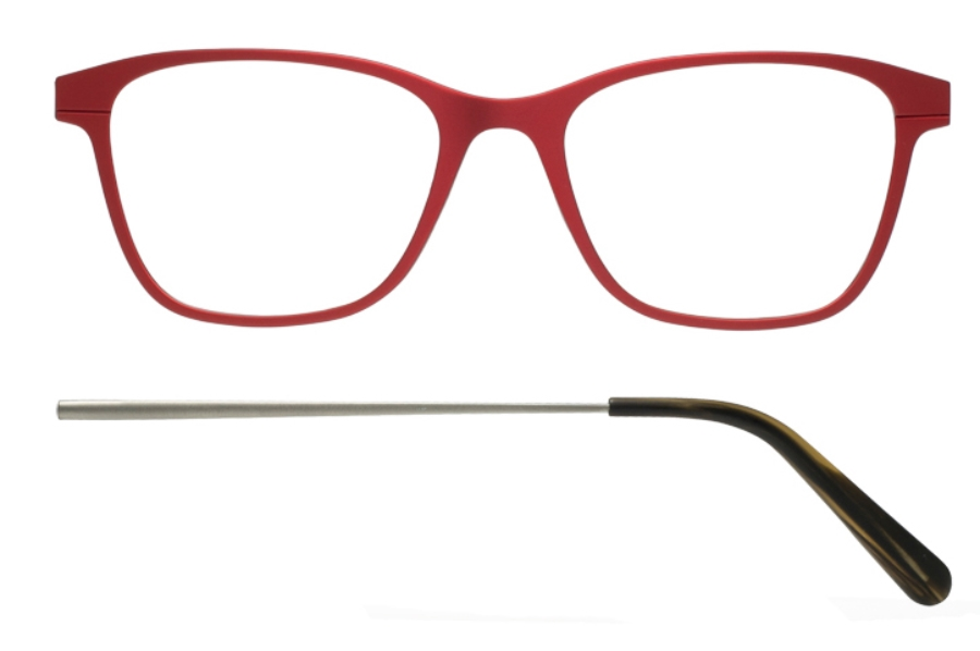 Kilsgaard 56 (Aluminium Temple) Eyeglasses in 56.3/1 Red (Discontinued)