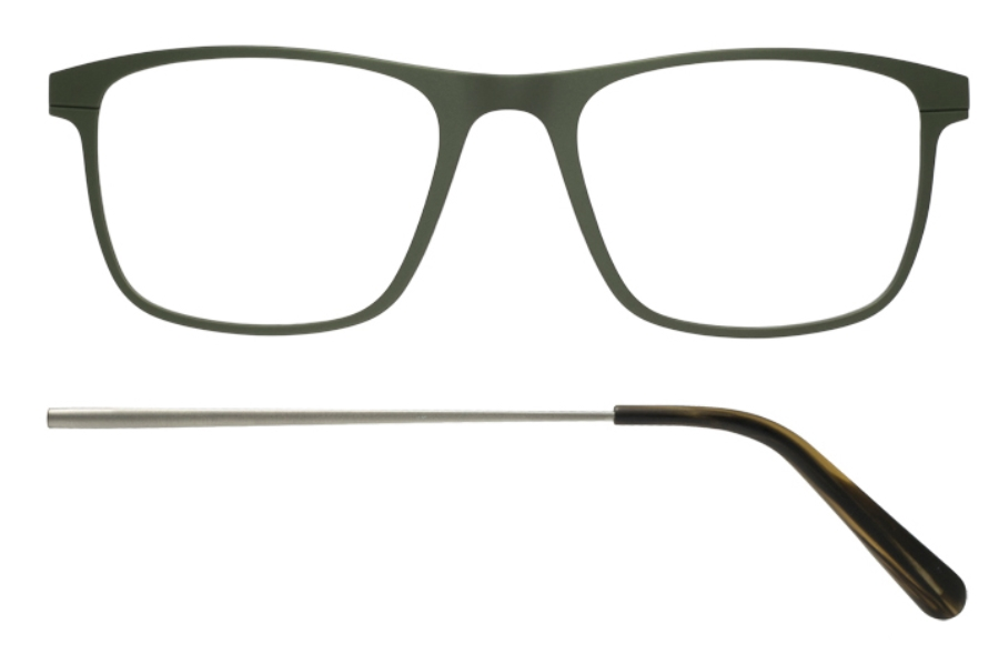 Kilsgaard 57 (Aluminium Temple) Eyeglasses in 57.7/7 Green (Discontinued)