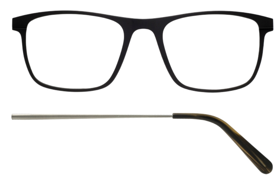 Kilsgaard 57 (Aluminium Temple) Eyeglasses in 57.1/3 Black (Discontinued)