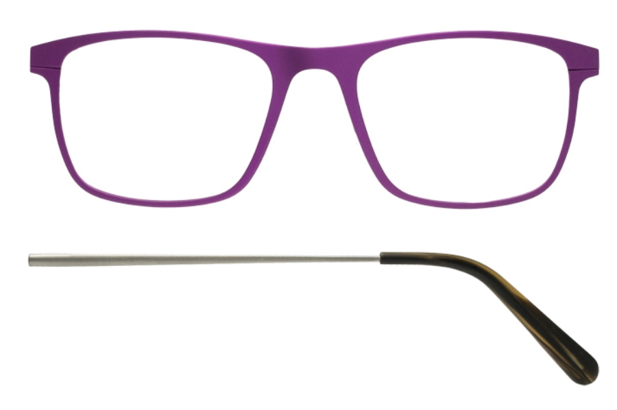 Kilsgaard 57 (Aluminium Temple) Eyeglasses in 57.8/8 Purple (Discontinued)