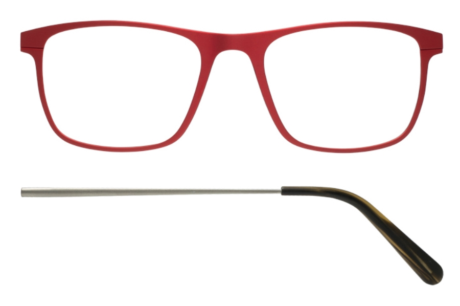 Kilsgaard 57 (Aluminium Temple) Eyeglasses in 57.3/1 Red (Discontinued)