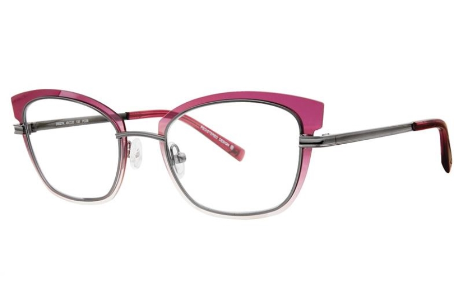 Koali 20027K Eyeglasses in PG06 Plum/Grey