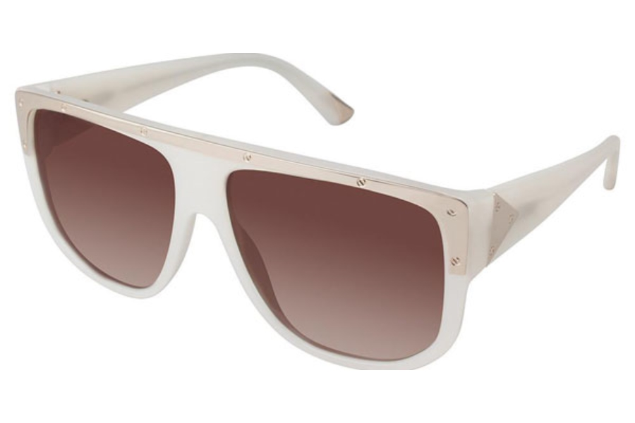L.A.M.B. by Gwen Stefani LA504 Sunglasses in BON Bone