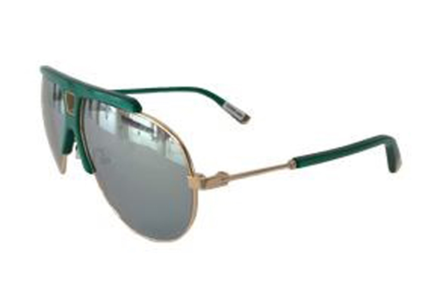 L.A.M.B. by Gwen Stefani LA527 Sunglasses in GRN Green Gold