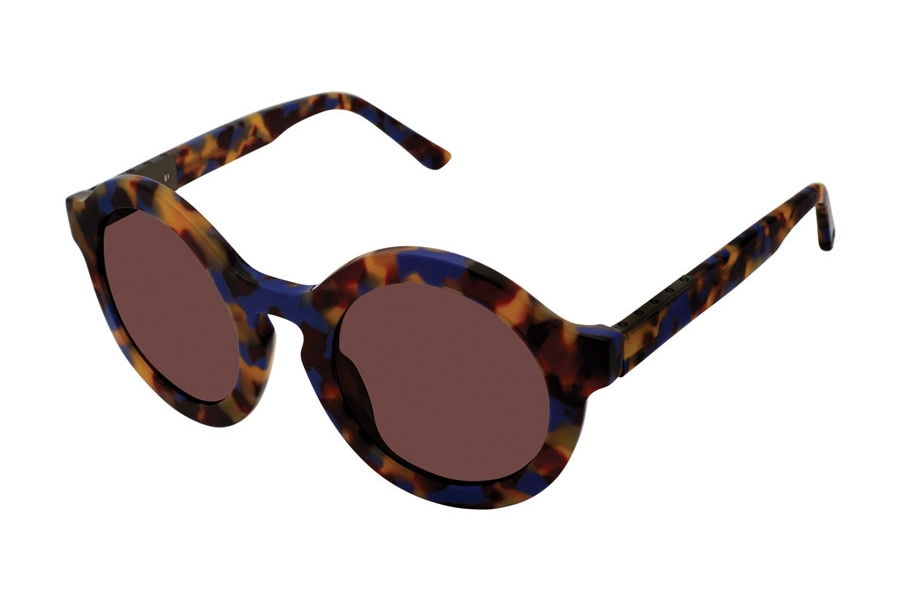 L.A.M.B. by Gwen Stefani LA535 Sunglasses in BLU Blue Tortoise