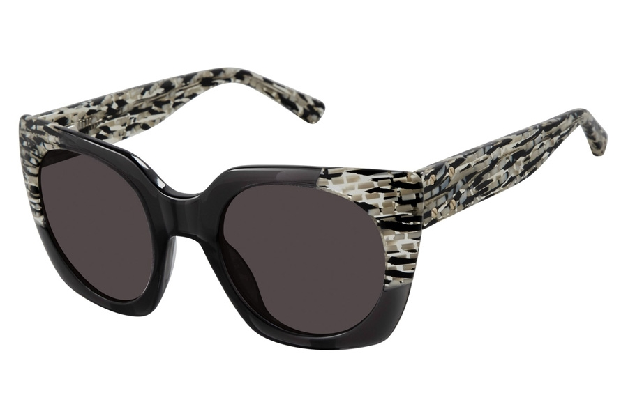 L.A.M.B. by Gwen Stefani LA545 Sunglasses in GRY Grey Black