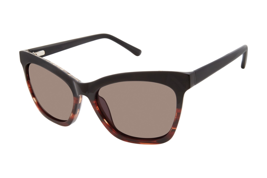 L.A.M.B. by Gwen Stefani LA560 Sunglasses in BLK Black Tort