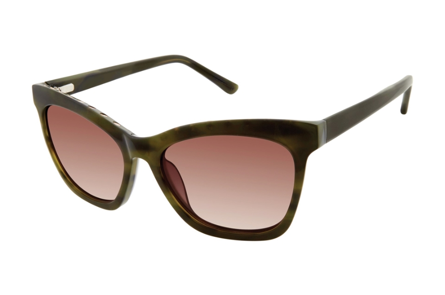 L.A.M.B. by Gwen Stefani LA560 Sunglasses in GRN Green