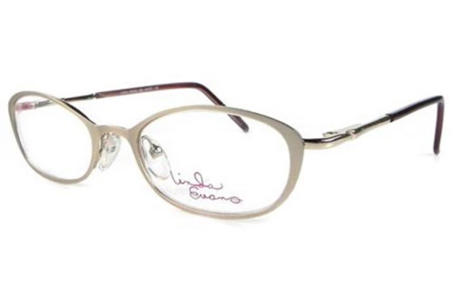 Linda Evans LE 259 Eyeglasses in Wheat