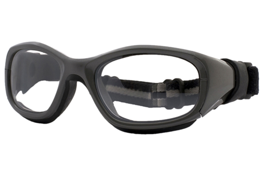 F8 by Liberty Sport Slam Goggle XL Goggles in Shiny Gunmetal / Black