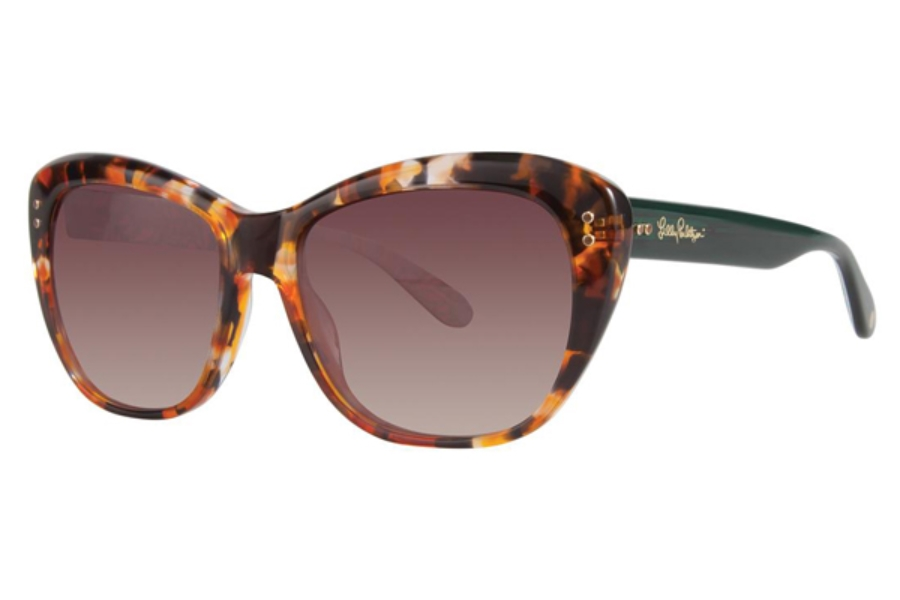 Lilly Pulitzer Monterey Sunglasses in Tiger Tortoise