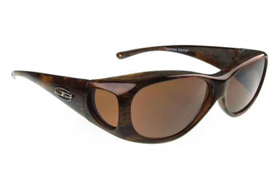Fitovers Lotus Sunglasses in LS002A Brushed Horn w/ Polarvue Amber Lenses
